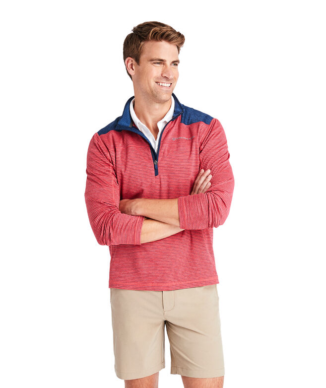 Striped Sankaty 1/2-Zip Pullover