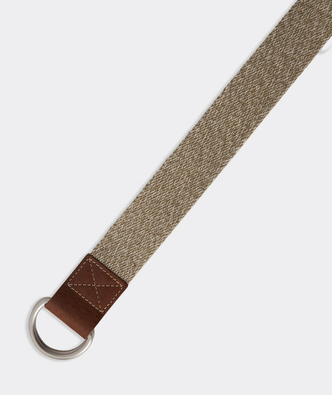 Heathered Canvas D-Ring Belt