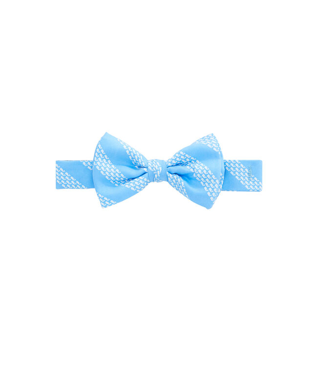 Boys Whale Rep Stripe Bow Tie