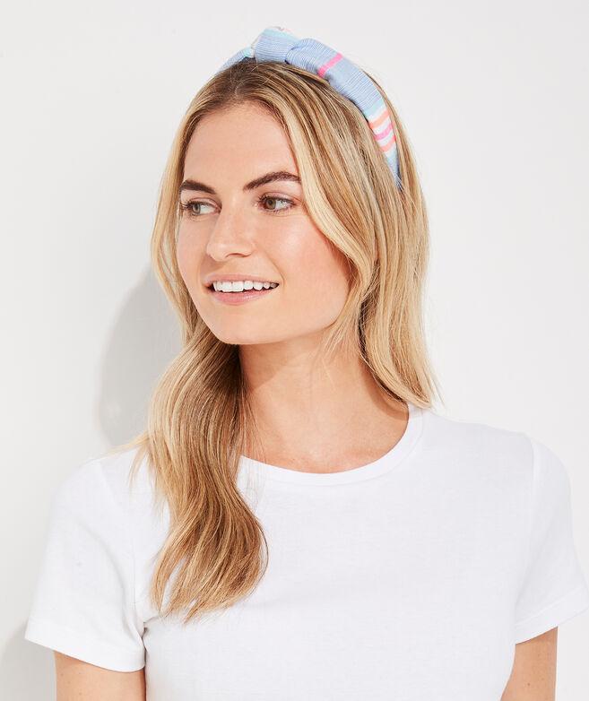 Beachy Stripe Knot Headband