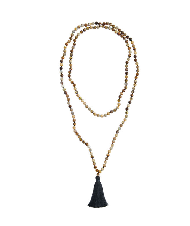 Tortoise Tassel Necklace