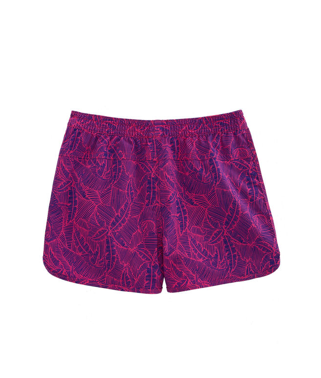 Girls Linear Tropic Performance Shorts