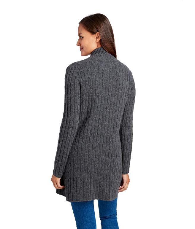Long Cashmere Cable Jacket