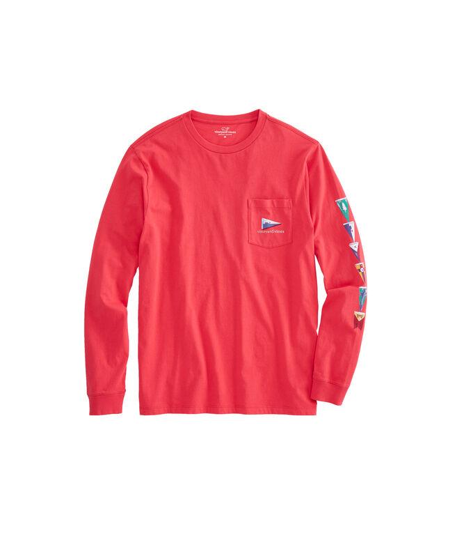 Long-Sleeve Coastal Burgees Pocket T-Shirt