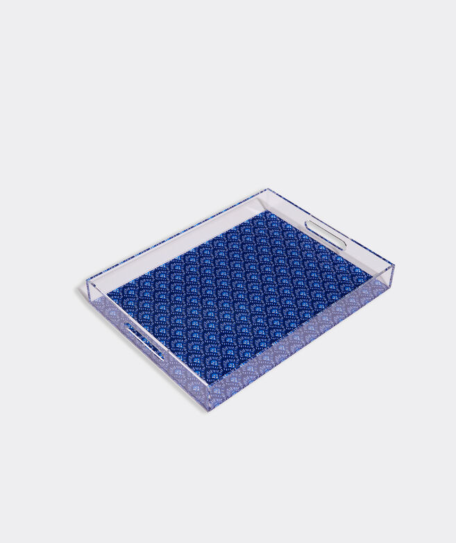 Tile Print Acrylic Tray