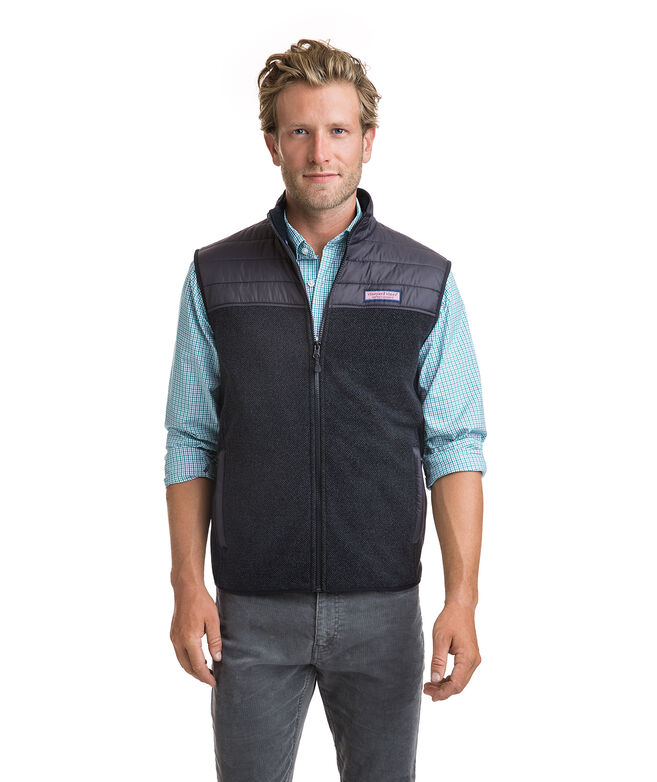 Channel Stitch Yoke Fleece Vest