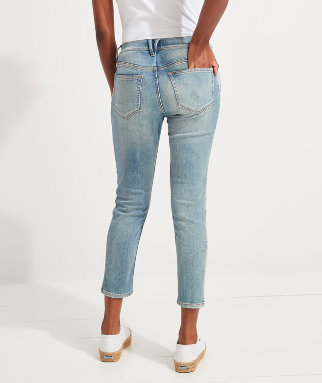 Straight Crop Paneled Jamie High-Rise Jeans