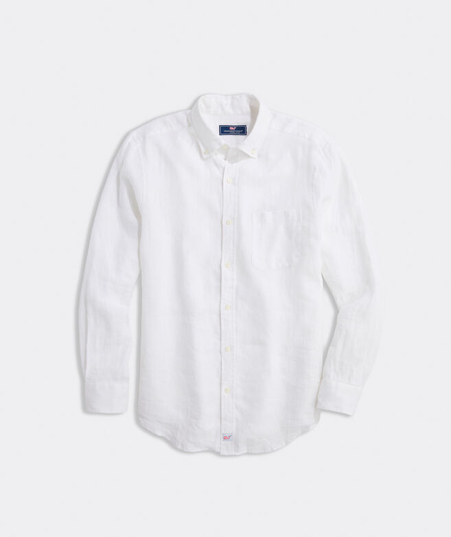 Classic Fit Solid Shirt in Linen
