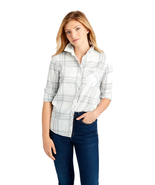 Ice Plaid Performance Flannel Chilmark Relaxed Button Down