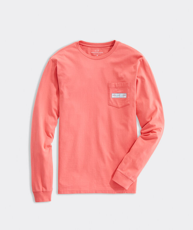 Hockey Rink Long-Sleeve Pocket Tee