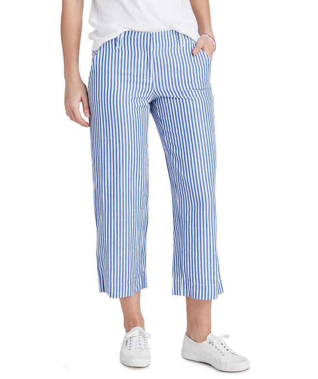 Linen Striped Catamaran Pants