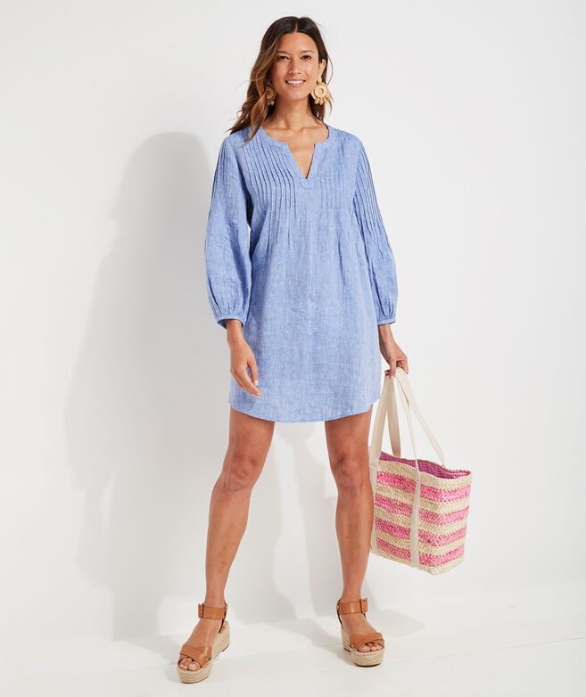 Linen Pintuck Cover-Up