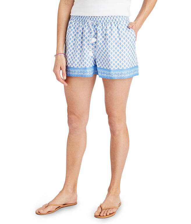 Tiny Block Print Pull-On Shorts
