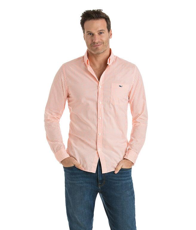 Sound Bay Gingham Slim Tucker Shirt