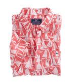 Short-Sleeve Boats Printed Slim Tucker Shirt