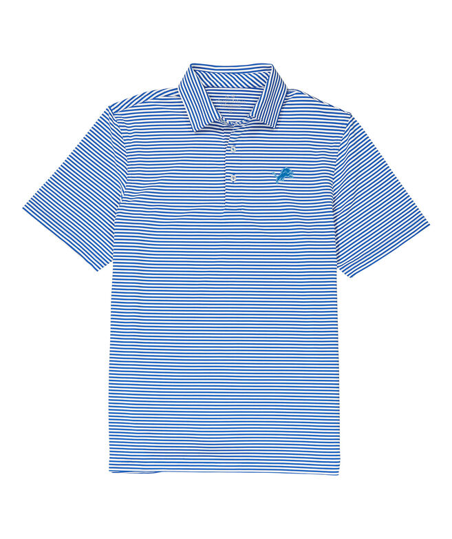 Detroit Lions Winstead Stripe Sankaty Performance Polo