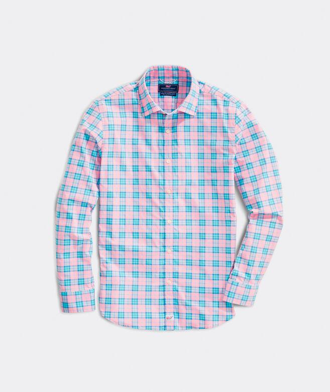 Slim Fit Sunset Ridge On-The-Go Performance Spread Collar Cooper Shirt