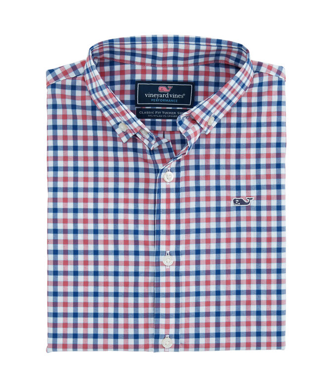 Boys Bermuda Check Performance Whale Shirt