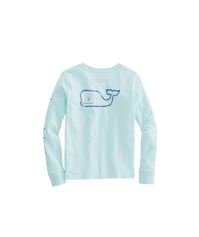 7b6032f2 Shop Girls Long-Sleeve Vintage Whale Pocket Tee at vineyard vines