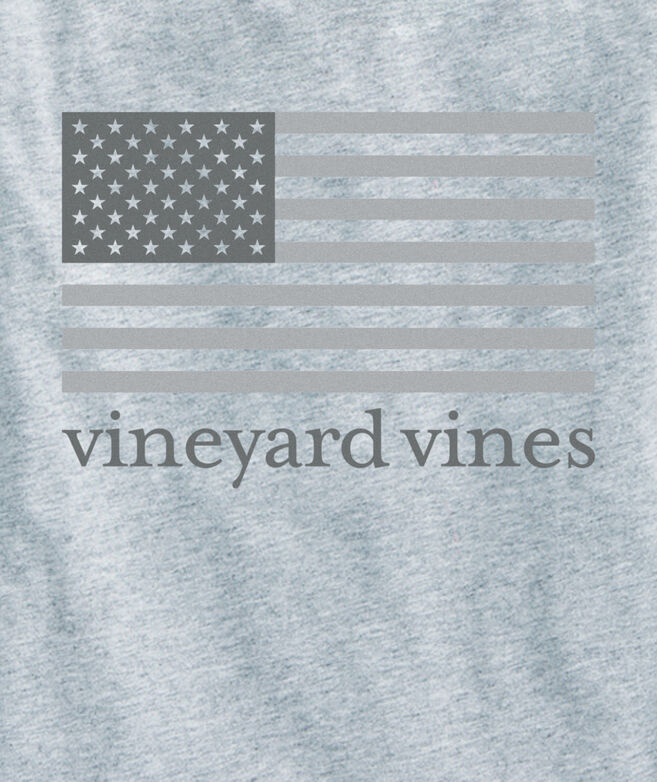Boys Long-Sleeve Tonal Flag Pocket T-Shirt