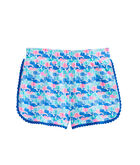 Girls Candy Whale Pull-On Knit Shorts