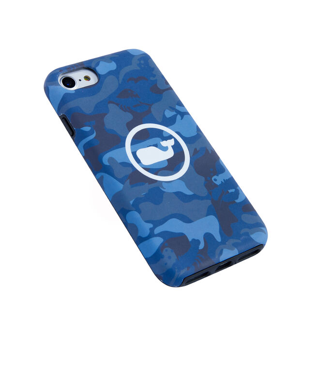 Camo Whale Dot 7/8 Iphone Case