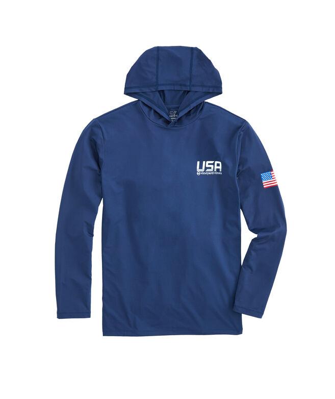 Long-Sleeve Performance USA Hoodie