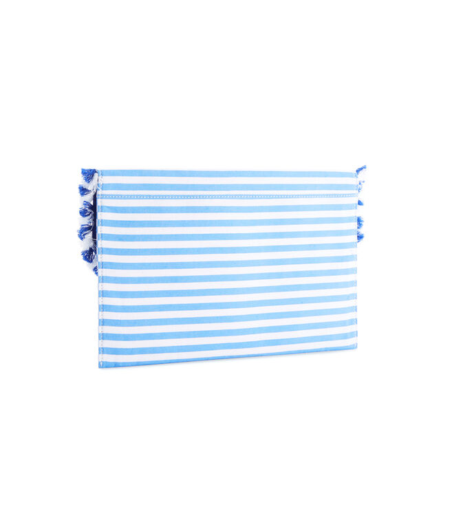 Striped Fringe Clutch