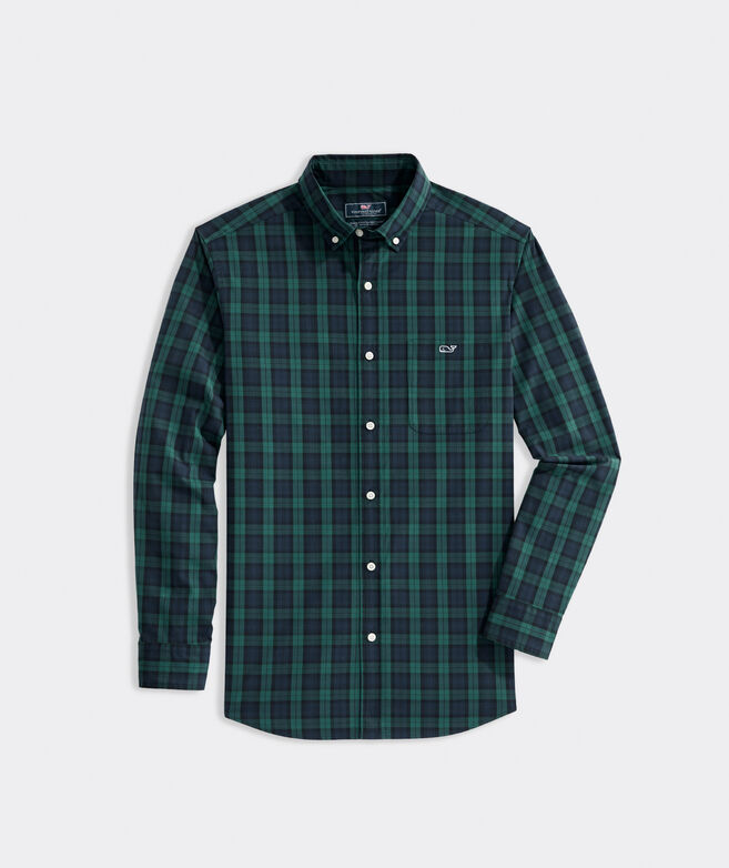 Big & Tall Classic Fit Blackwatch Poplin Tucker Shirt