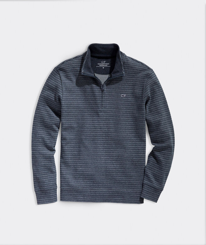 Striped Saltwater 1/2-Zip Pullover