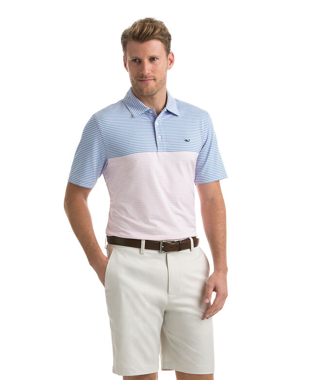 Newport Stripe Sankaty Performance Polo