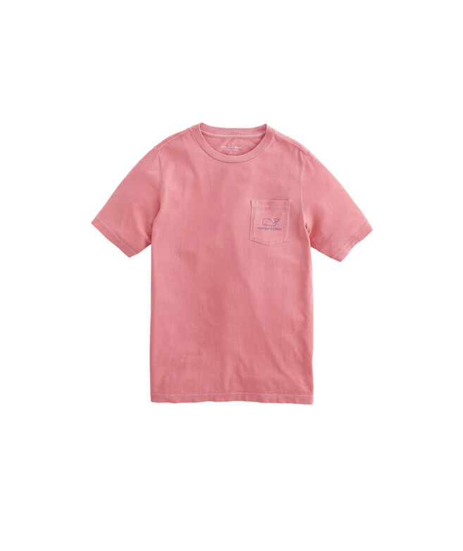 Boys Garment-Dyed Vintage Whale Short-Sleeve Pocket T-Shirt