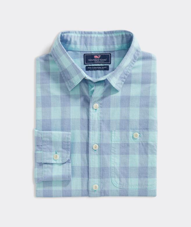 Slim Fit Cove Island Slub Longshore Button-Down Shirt