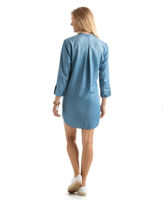 OUTLET Women's Chambray Tunic Shirt Dress