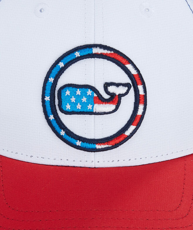 Low Pro Performance Patriotic Whale Dot Hat