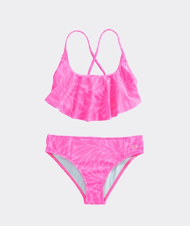 Girls' In Full Bloom Flounce Bikini