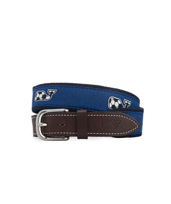 Boys Soccer Whale Canvas Club Belt