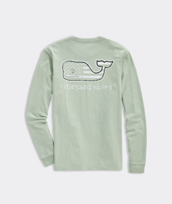 Tonal Flag Whale Fill Long-Sleeve Tee