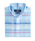 Boys Cedar Point Plaid Whale Shirt