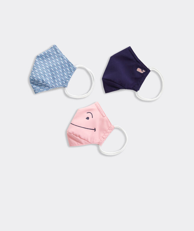Kids' Classic Whale Non-Medical Mask 3-Pack