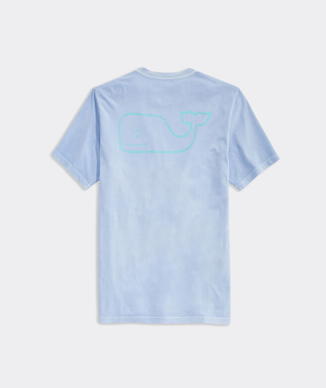 Garment-Dyed Two-Tone Vintage Whale Short-Sleeve Pocket Tee