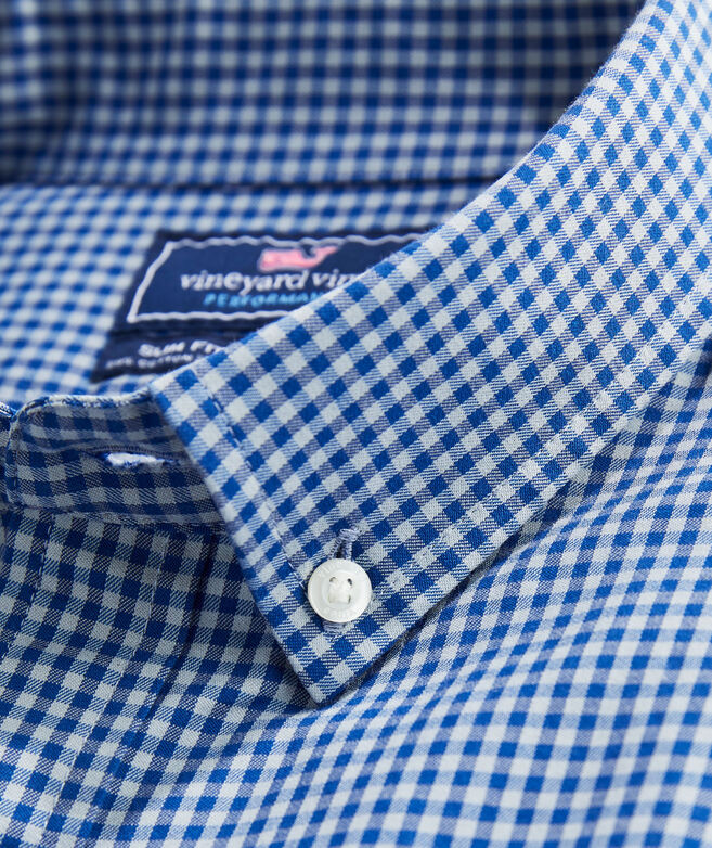 Slim Fit Lemon Shark Performance Cotton Tucker Button-Down Shirt