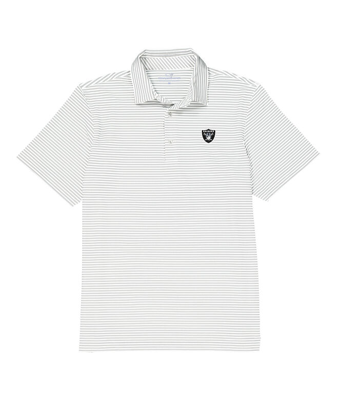 Oakland Raiders Winstead Stripe Sankaty Performance Polo