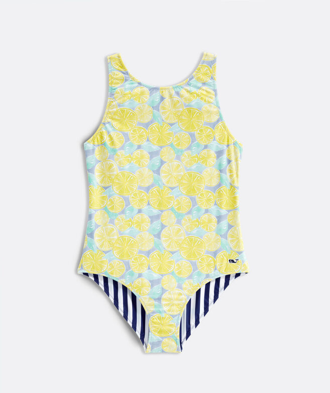 Girls' Painted Citrus Reversible One-Piece