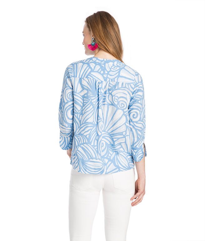 Nautilus Shell Print Tunic Top