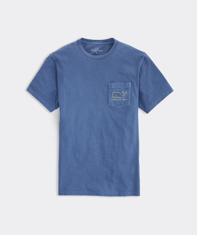 Neon Garment Dyed Vintage Whale Short-Sleeve Pocket Tee