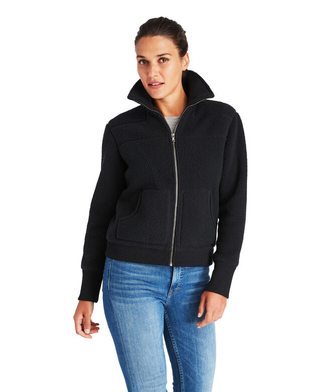 Seamed Sherpa Bomber Jacket