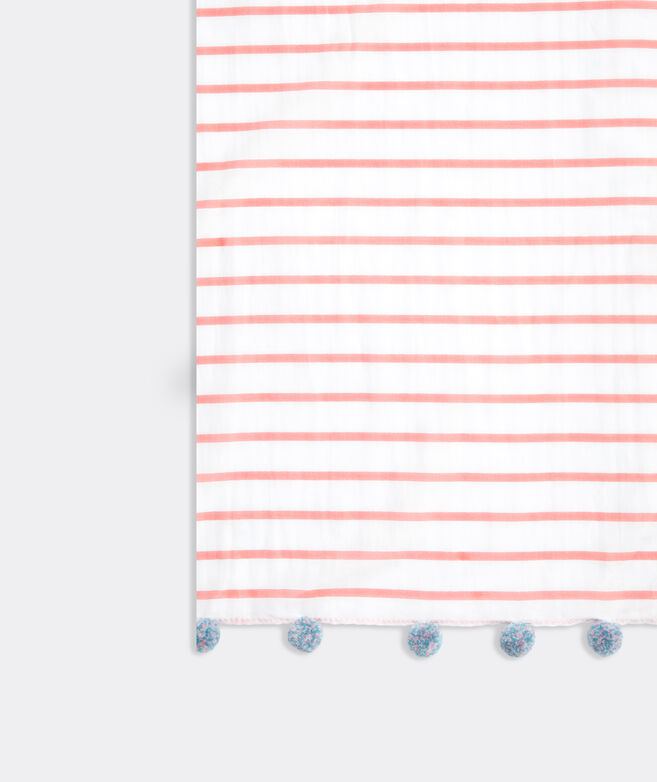 Break Stripe Printed Pareo Scarf