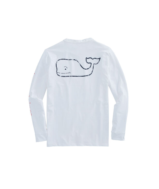 Long-Sleeve Performance Vintage Whale T-Shirt