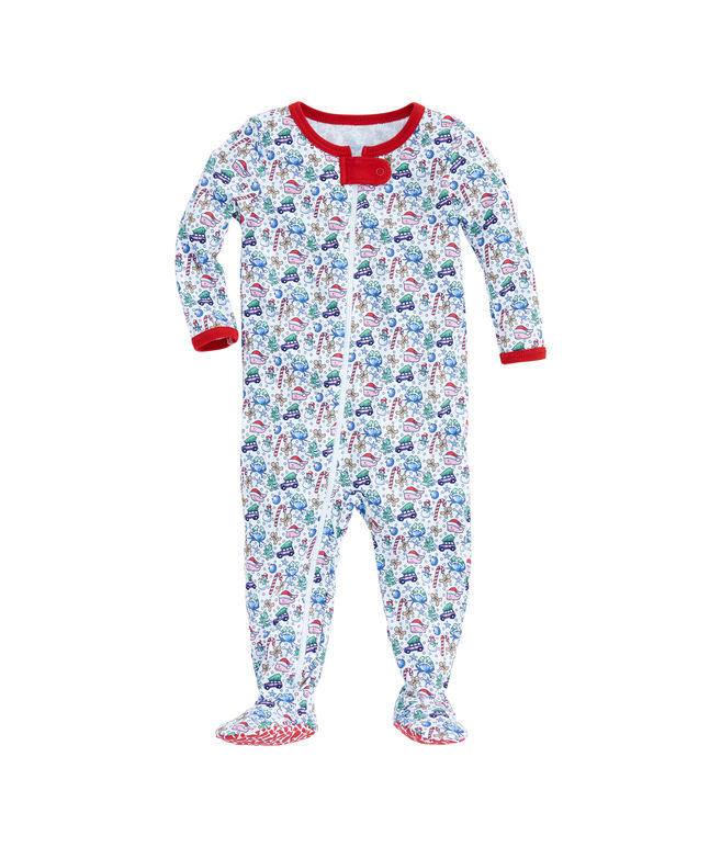 Baby Multi Icon Footed One-Piece